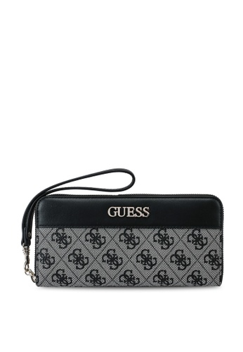 Guess black Sosie Large Zip Around Wallet 5AED0ACFD47C0EGS_1