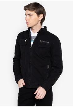 917299a1074 Bossini black Full Zip Canvass Jacket 7CEFAAAF896BCBGS 1