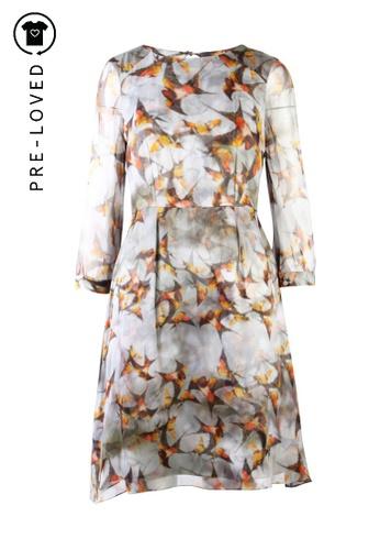 Erdem grey Pre-Loved erdem Grey Printed Dress B3614AACF4B0D9GS_1