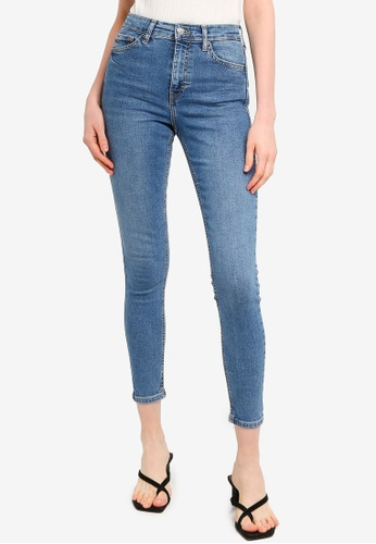 "TOPSHOP blue Mid Wash Denim Jamie Jeans 32"" 87E15AA248787CGS_1"