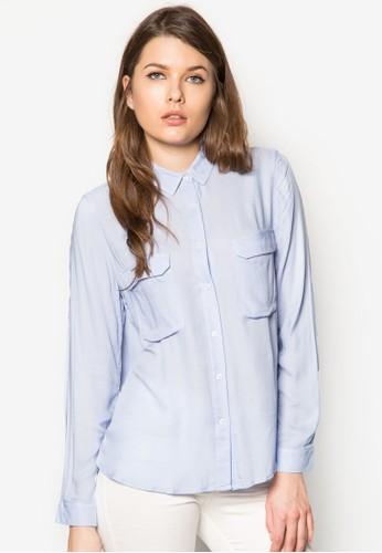 Flzalora 男鞋 評價ap Pocket Shirt, 服飾, 上衣