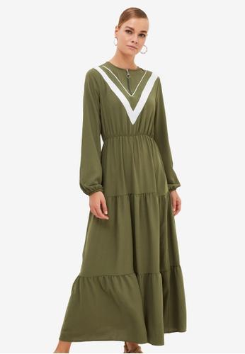 Trendyol green Zip Front Dress 6DBAFAA8B04981GS_1