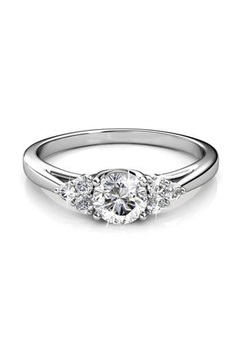 Her Jewellery silver Swarovski® Zirconia - Elegant Ring (18K White Gold Plated) Her Jewellery HE581AC0RDO2MY_1