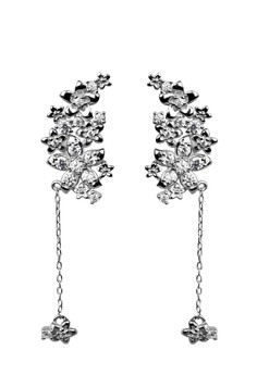 Enchantress Silver Earrings and Necklace