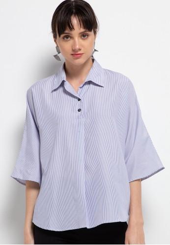 BRILLIANT GIRL blue Stripe Shirt 3C977AA09553F2GS_1