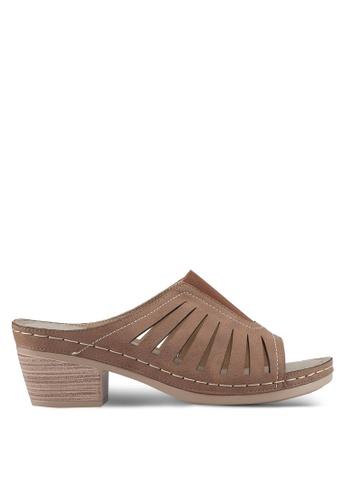 Louis Cuppers brown Lasercut Heels C675CSH8E214CEGS_1