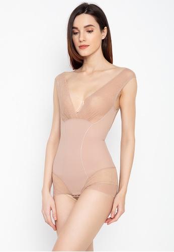 Golden Ticket Super Savers beige Zandra Lace Sexy Body Shaper 60E4FUSC67E661GS_1