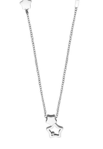 ESPRIT silver ESPRIT [Stellar Duo] Silver Stainless Steel Necklace (42 cm + 3 cm) 63419ACEDF2F24GS_1