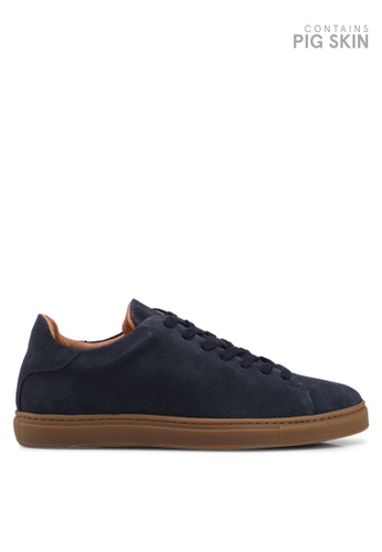 Selected Homme blue and navy David Suede Trainers 5C825SH9DC117EGS_1