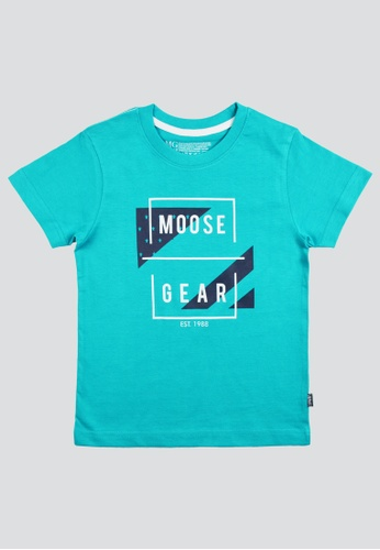 Moose Gear turquoise T-Shirt Soft and Thin Cotton For Boys CW B7C27KA1DB4691GS_1