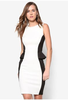 Collection Side Peplum Pencil Dress
