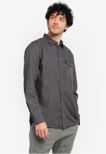 Cotton On black Brunswick Shirt CO372AA0SSAKMY_1