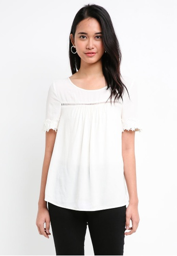 ONLY white Holly 2/4 Top 055EAAAAF38C91GS_1