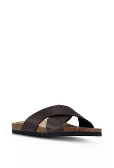 5704b20cf2853e 21% OFF Brave Soul Dawson Cork Sandals with Cross Straps Php 2