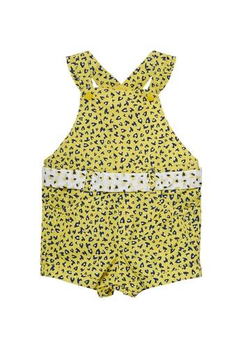 Du Pareil Au Même (DPAM) yellow Print Overalls 0510CKA83B2F75GS_1