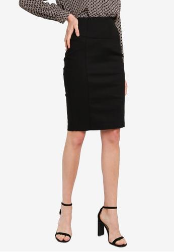 FORCAST black Brenna Pencil Skirt 66893AA84AB884GS_1