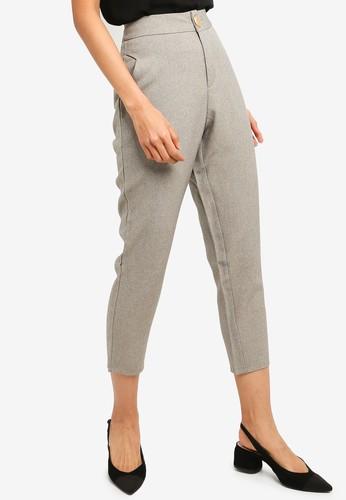 Kodz grey Cropped Tapered Pants 4B3E9AAA21CEE1GS_1