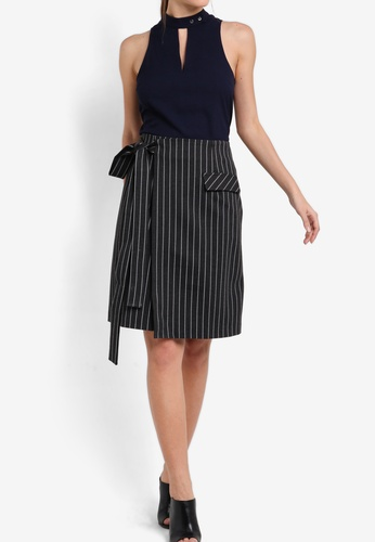 ZALORA grey Collection Tailored Wrap Skirt DCDD2AA3BE69C6GS_1