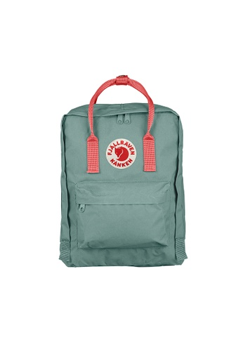 Fjallraven pink and green and multi Fjällräven Kånken Frost Green-Peach Pink AA86CACC05DC90GS_1