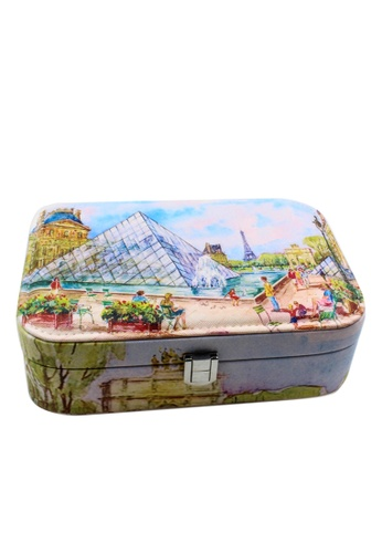 Venice Jewelry blue Fashionable Printed Jewelry box JBPS-LP-09 VE564AC94UKBPH_1