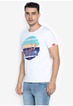 f0d3d8e3 Urban Edge Clothing white Round Neck Graphic T-shirt F5949AA2940CBAGS_1