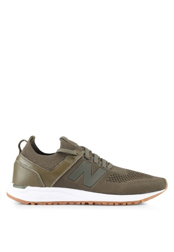 New Balance grey and green 247 Deconstructed Lifestyle Sneakers NE323SH0SW9WMY_1