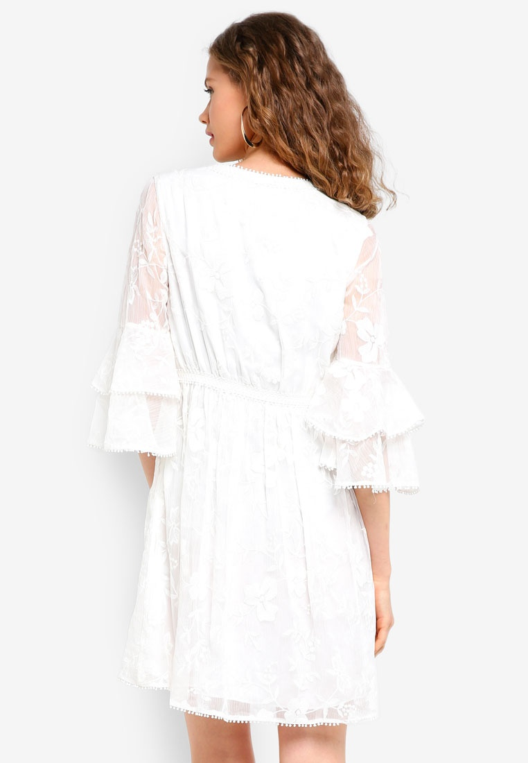 Tiered Dress Embroidered New Angel White Forever dEvAnq