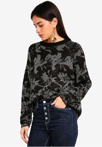 Vero Moda black Nito Long Sleeve Pullover 0EC81AA2A15794GS_1