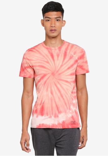 Abercrombie & Fitch red Tie Dye T-Shirt 44124AAA5B2D10GS_1