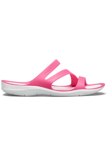 Crocs pink Women's Swiftwater Sandal Pdp/Whi ED450SH96DF684GS_1
