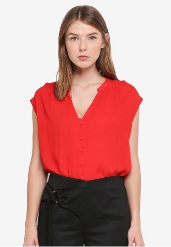 OVS red Sleeveless Shirt 37226AAF3853C3GS_1