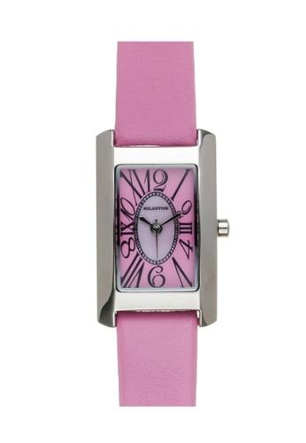 EGLANTINE silver EGLANTINE® Lily Mini Steel Quartz Ladies Watch on pink leather strap 91689AC38206CEGS_1