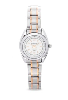 Analog Two-Tone White Dial Watch 20121683