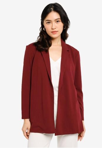 JACQUELINE DE YONG red Geggo Long Sleeves Blazer 52656AA24C04C6GS_1