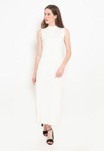 BASIC ONE white Basic One Jeddah Long Dress Jasmin White 90C80AA5C626E5GS_1
