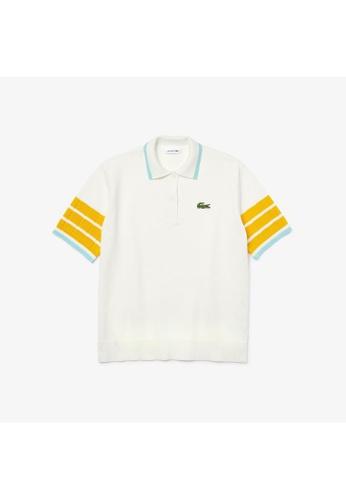 Lacoste Women's Polo Collar Cotton Blend Sweater 89331AA5B2607BGS_1