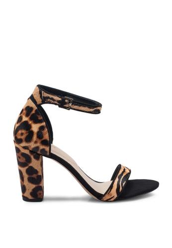 ALDO 黑色 Jerayclya Open Toe Ankle Strap Block Heels 14D90SHC6F063BGS_1
