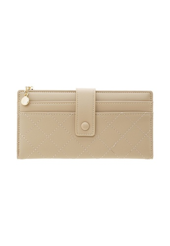 Tracey beige Tracey Small Button Long Wallet 3590FACD5D9628GS_1