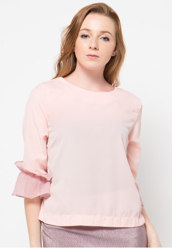 Raspberry pink Maya Long Sleeve Blouse RA572AA67OVCID_1