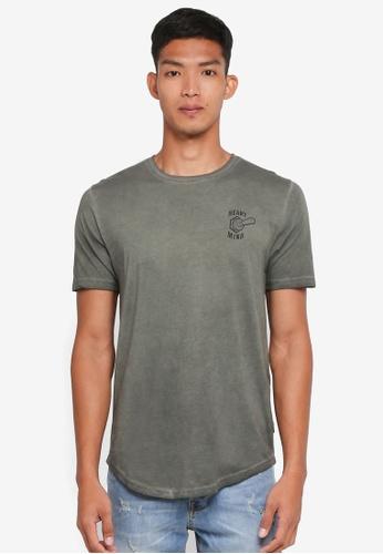 Only & Sons 黑色 短袖胸前印花T恤 EDA6BAA7224C6BGS_1