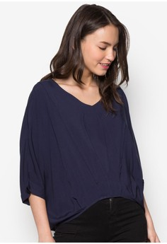 Back Button Up Batwing Shirt