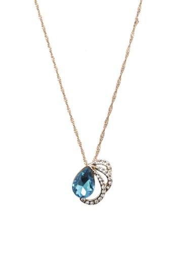 Christie 閃鑽寶石吊墜項鍊, 韓系esprit 品牌時尚, 梳妝