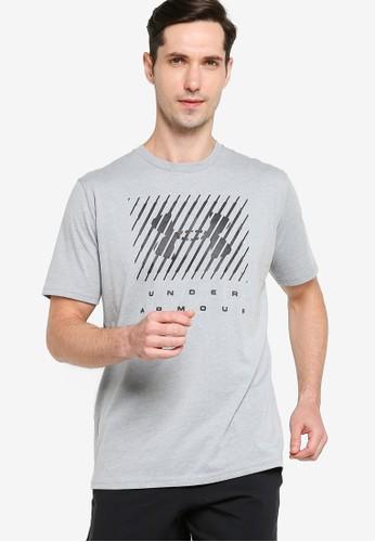 Under Armour grey UA Branded Big Logo Short Sleeve Tee 8CE2FAA1F3D07BGS_1