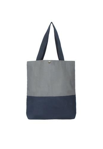 GreyPlus grey Grey Navy Basic Tote Bag GR720AC85IWGSG_1