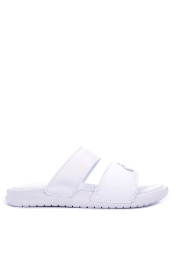 8d82044a21e16 Nike white Nike Benassi Duo Ultra Slide Sandals 3EC14SH212F1C0GS 1