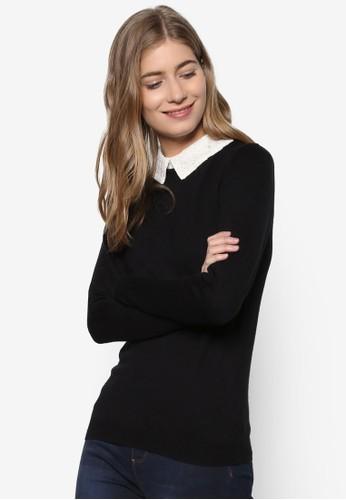蕾絲襯衫領長袖衫, esprit outlet 桃園服飾, 外套
