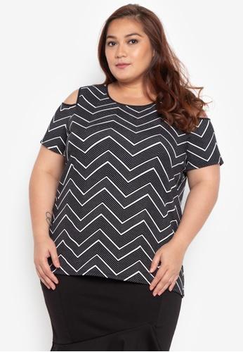 4ad9fddbfbd0 Shop Divina Plus Size Cold Shoulder Blouse Online on ZALORA Philippines