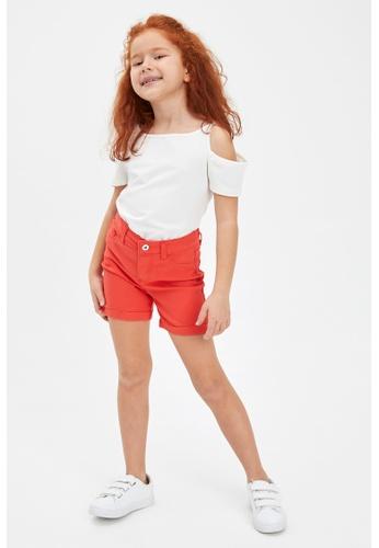 DeFacto red Girl Woven Short DDD14KA5302AF7GS_1