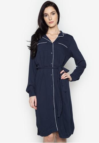 Joe Fresh blue Piped Shirt Dress JO088AA0J2HIPH_1