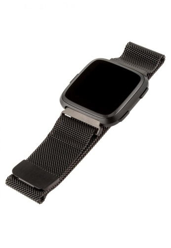WITHit WITHit Stainless Steel Mesh Band-Fitbit Versa/Versa2 - Graphite 7CE5DACBBCD08AGS_1